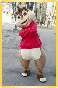 Chipmunk height-size puppet