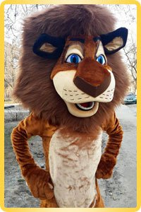 Lion height-size puppet