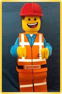 Ростовая кукла Лего человек
