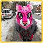 костюм розового барса