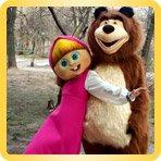 Ростовая кукла Миша и Маша
